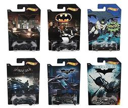 Hot Wheels Batman Complete Set of 6 Diecast Cars - Batmobile