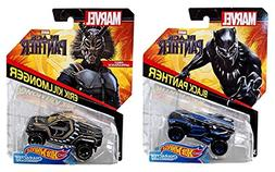 Hot Wheels Black Panther Movie Character Cars - Includes Bla