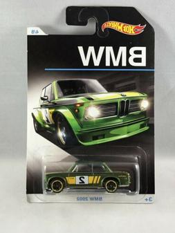Hot Wheels BMW 2002 Green Yellow Tampo BMW Series Exclusive