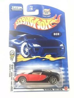 Hot Wheels Bugatti Veyron Red/Blk 2003 First Edition #30 10/