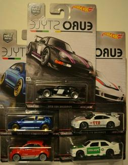 Hot Wheels Car Culture 2015 complete set of five  Euro Style