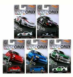 Hot Wheels Car Culture: EURO STYLE Complete Sets of 5 cars.