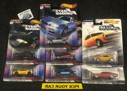 Hot Wheels Car Culture Singles-Pick your CAR-All series - Fa