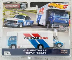 Hot Wheels Car Culture Team Transport 71 Datsun 510 Fleet Fl