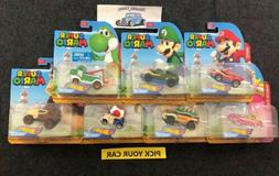 Hot Wheels Character Cars Singles Mario - Pick your CAR -Mak
