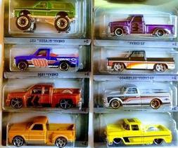 Hot Wheels CHEVROLET TRUCKS 100 Years 8 Piece Set Collectibl