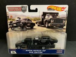 Hot Wheels Chevy Super Nova 66 with Retro Rig Team Transport
