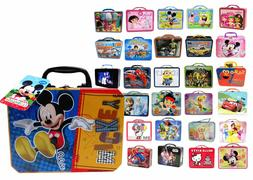 Licensed Children's Tin Lunch Box Carry All Storage Gift Bag