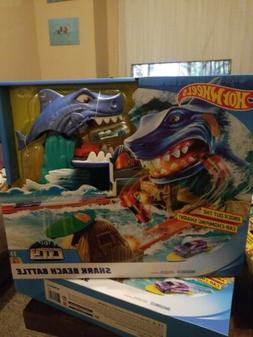 Hot Wheels City Shark Beach Battle Challenge Playset Toys  N