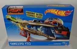 Hot Wheels City Speedway Track Set Race Car Toy Playset Laun