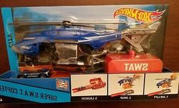 Hot Wheels City Super S.W.A.T. Copter Playset with Vehicle C