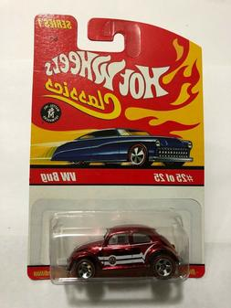 Hot Wheels Classics Series 1 - VW Bug - Spectraflame Red - $
