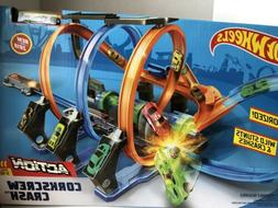 Hot Wheels Corkscrew Crash Track Set Brand New