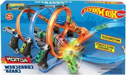 Hot Wheels Corkscrew Crash Track Set Playset NEW