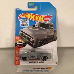 Custom '56 Ford Truck #108 * Grey * 2017 Hot Wheels FACTORY