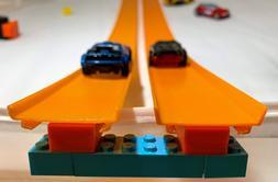 Custom Hot Wheels Track to LEGO Brick Adapter 8 piece Set 3D