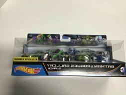 Hot Wheels DC Comics Batman and Rogues Gallery Vehicle, 5 Pa