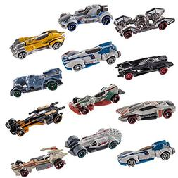 Hot Wheels (Set of 12 Disney Star Wars Carships Toys Set Sta