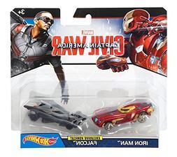 Mattel DRB51 Hot Wheels Marvel Captain America Civil War Cha