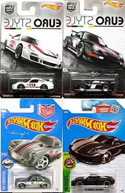 Eurostyle Porsche Hot Wheels Car Set Porsche 356A Outlaw & 9