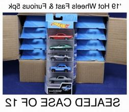 Hot Wheels Fast & Furious 5 Pack Case Of 12 New 2019 Movie R