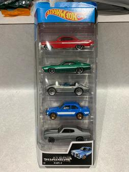 Hot Wheels 2019 Fast & Furious 5 Pack Set Movie Impala Corve