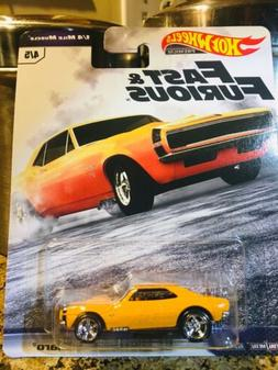Hot Wheels Fast & Furious '67 Camaro 1/4 Mile Muscle 2019