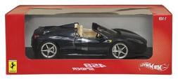 Hot wheels X5529 2012 2013 Ferrari Italia 458 Spider Dark Bl