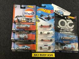 Hot Wheels GULF Cars - Pick your CAR - Car Culture and Mainl