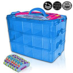 Holds 600 - Tiny Toy Box Shopkins Storage Case Organizer Con