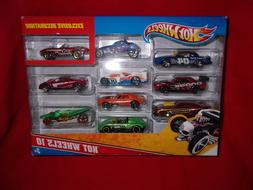 HOT WHEELS 10 PACK EXCLUSIVE DECORATION DIE CAST VARIETY PAC