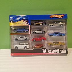 HOT WHEELS 10 PACK EXCLUSIVE DECORATION DIECAST VARIETY GIFT
