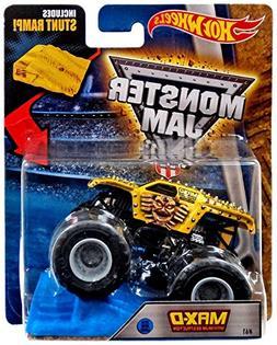 Hot Wheels 2016 Monster Jam w/ Stunt Ramp #61 MAX-D Yellow N