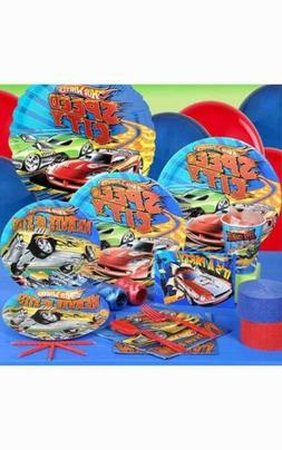 HOT WHEELS 8 PERSON BOYS BIRTHDAY PARTY PACK SUPPLIES DECORA