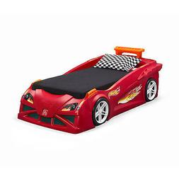 Step2 Hot Wheels Convertible Toddler-to-Twin Bed, Red