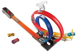 Hot Wheels Die Cast Car Double Loop Track Builder Pack Boost