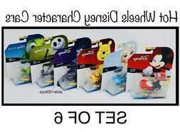 Hot Wheels Disney Character Cars Series 1 Set of 6 Mickey, E