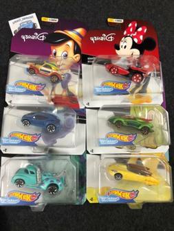 Hot Wheels Disney Character Cars Series 2 Set of 6 Minnie, P