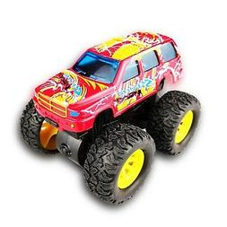 Jeacy Hot Wheels Monster Jam Trucks Pull Back Car for 1-3 Ye
