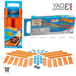Hot Wheels Race Track Builder Includes 15 Feet Straight Trac