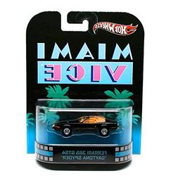 Hot Wheels Retro Miami Vice 1:55 Die Cast Car Ferrari 365 GT