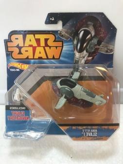 Hot Wheels Star Wars Die-Cast Boba Fett's Slave 1 vehicle w/