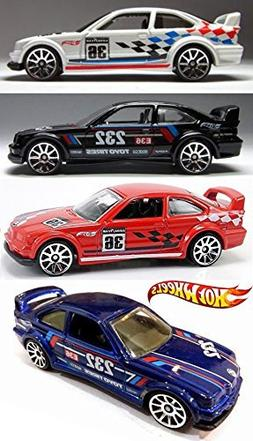 HW Racing BMW M Series 4 Car Set Hot Wheels #146 E36 M3 Race