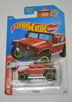 HOT WHEELS HW RESCUE 8/10 HUMVEE RED 218/250