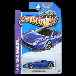 Hot Wheels HW Showroom Ferrari 458 Spider Blue #151/250