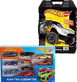 Bundle Includes 2 Items - Hot Wheels 48- Car Storage Case wi