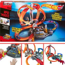 Kids Hot Wheels Spin Storm Racing Cars Race Track Set Playse