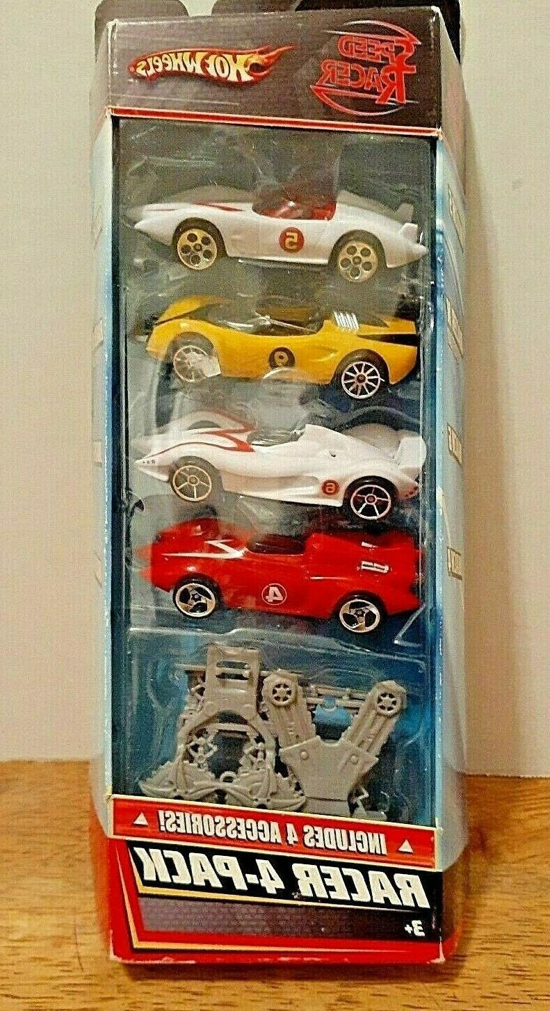 2007 Hot Wheels Speed Racer 4 Pack Also Includes 4 Accessor