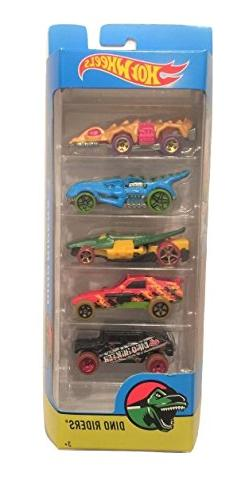 Hot Wheels 2017 Dino Riders 5-Pack ~ Fangster, T-Rextroyer,