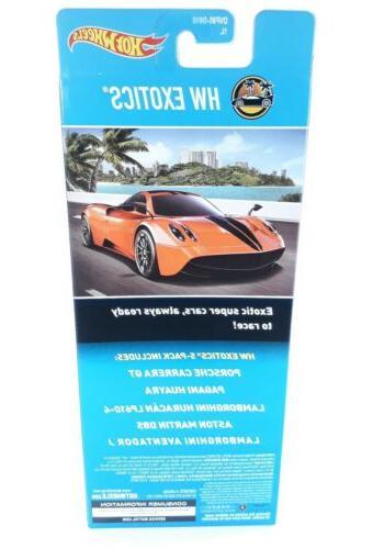 Hot Wheels Exotics 5-Pack Porsche Pagani Lamborghini